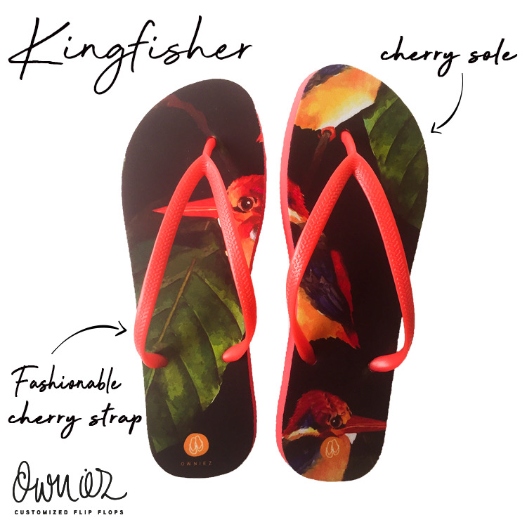 Customized Kingfisher Flip Flops of Owniez
